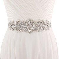 Wholesale formal accessories for girls for sale - 2018 Handmade White Ivory Belt For Wedding Dresses Beaded Crystal Wedding Sash Wedding Accessories Rhinestone Bridal Sash CPA1222