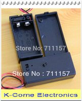 Wholesale 9v battery holder plastic resale online - 20pcs In V F22 Battery Storage Box Case Holder With ON OFF Switch Cover CM Lead Wire