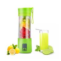 licuadora de hielo al por mayor-Triturador de hielo con conector USB Recargable Juice Maker Exprimidor de jugo de frutas y verduras.