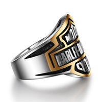 Wholesale rock drops - Punk High Quanlity Letter Titanium Rings Jewerly Popular Personality Motorcycle Rock Rings Men Women Harley Rings wholesale Drop Shipping