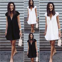 Wholesale high end cocktail dresses - High End Short Women Sexy Evening Cocktail Beach Mini Black Party Summer Dress