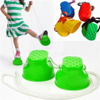 Wholesale train sets for kids - 1pair Outdoor Plastic Balance Training Equipment For Children Kid Walker Toy Monster Feet Fun Toys Gift For Kids Color Randomly