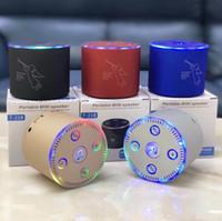 t telefonkarten großhandel-T-218 TWS Tragbarer Bluetooth-Lautsprecher Farbiges Flash-LED-Licht Angel Active 3W-Lautsprecher BT4.2 FM-Radio-TF-Karte USB für iPhone X 8 Handy