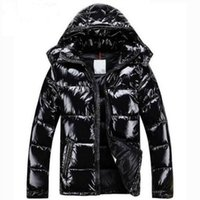 Wholesale Shiny Jackets Men - Men Women Classic brand Casual Down Jacket Shiny matte Down Coats Mens Outdoor Fur Collar Warm Feather dress Unisex Winter warm Coat outwear