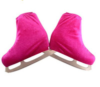 Wholesale figure ice skates resale online - Child Adult Velvet Ice Skating Figure Skating Shoes Cover Blade Cover Solid Rollar Skate Shoes Accessories Athletic
