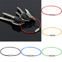 Wholesale Cable Rings - Keychain Screw Locking Stainless Steel Wire Cable Rope Key Holder Key Chain Rings Cable Outdoor Hiking Free Shipping
