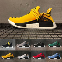Wholesale People Shoes - 2018 Williams Pharrell x NMD Human Race People Racing Shoes Yellow Black NMD Human Race runner men women sports running sneakers eur 36-45
