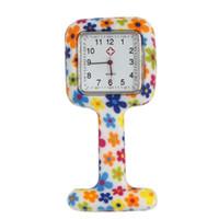relojes cuadrados de goma para mujer al por mayor-Square FASHION Clip de Silicona Enfermera de Bolsillo de Caucho FOB Relojes Hombres Mujeres Docter Colgante Reloj Médico PADRES Regalos