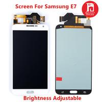 e7 display venda por atacado-Lcd para samsung galaxy e700 e700 e7009 e700f e700h e700m tft display touch screen substituição digitador brilho ajustar disponível