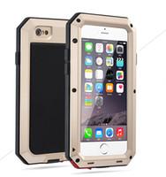 iphone gorille achat en gros de-Boîtier en métal étanche à la pluie antidérapant antichoc Doom Armor pour IPhone 7/8 7s / 8s avec couvercle en aluminium Gorilla Glass
