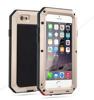 ingrosso pioggia di alluminio-Custodia in metallo antipioggia impermeabile antiurto antiurto per iPhone 7/8 7s / 8s con copertura in alluminio di vetro gorilla