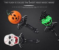 ingrosso suoni fantasma di halloween-Plastic Shining Magic Stick Halloween Bambini Bacchetta divertente con Scary Ghost Sound per Halloween Prank Toys Forniture per bambini Giocattoli classici