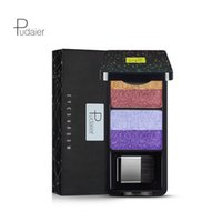 Wholesale nude eye shadow kits for sale - Group buy Hot Pudaier Nine Stype Makeup Eyeshadow Palette Colors Nude Pigment Waterproof Shimmer Glitter Eye Shadow with Brush Kits DHL Shipping