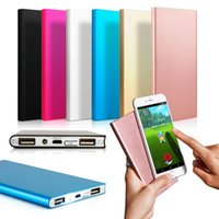 Wholesale external chargers for cell phone batteries resale online - NEW Ultra Thin mAh Portable External Battery Charger Power Bank for iPhone Cell Phone High Quality
