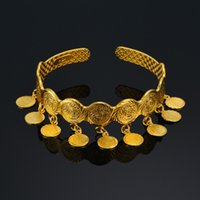 bde930c89ac0 Moneda Vintage Brazalete Pulseras Brazaletes Para Las Mujeres Islam Moneda  Árabe Musulmana Moneda Árabe Signo de Oro Joyas de Oriente Medio