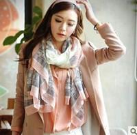 grand foulard en soie à fleurs achat en gros de-Femmes élégantes à long imprimé foulard en coton wrap ladies châle grandes foulards en soie nouvelles femmes