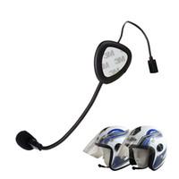 intercomunicador do fone de ouvido do capacete da motocicleta do bluetooth bt venda por atacado-Nova Versão Mini Bluetooth 4.0 Fones De Ouvido Capacete Da Motocicleta Interfone Headset BT Sem Fio Handsfree alto-falantes Bluetooth fone de ouvido