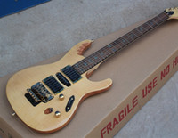 Wholesale blonde roses - Super Thin Herman Li EGEN8 Flame Maple Top Blonde Natural Electric Guitar Floyd Rose Tremolo Bridge, Abalone Oval Inlay, HSH Pickups