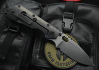 cuchillos strider d2 al por mayor-¡Gran venta! Strider Tactical Cuchillo Plegable D2 Hoja de Satén Fibra de Carbono + TC4 Cuchillo Plegable de Aleación de Titanio Cuchillas Plegables EDC Gear
