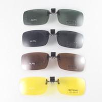 ingrosso occhiali da sole polarizzati gialli-Occhiali da sole polarizzati Uomini Donna Clip su occhiali da sole Occhiali da vista Occhiali da sole Occhiali da vista Occhiali da vista gialli Occhiali da vista notturni D18102305