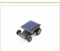 Wholesale solar mini car - DIY Educational Solar toys Smallest Mini Solar Powered Robot Racing Car Toy 100pcs free via DHL
