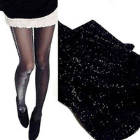 Wholesale shiny pantyhose sexy resale online - 1 Sexy Charming Shiny Pantyhose Glitter Stockings Womens Glossy Thin Tights Hot Sale