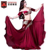 ingrosso gonne di costume da ballo di pancia-Costumi di danza del ventre professionale per donna Elegance per la danza orientale Abiti di danza perizoma di danza del ventre