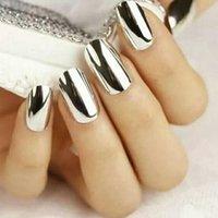 ingrosso chiodi di alluminio-Pigmento in polvere per unghie in polvere con effetto specchio in alluminio specchiato argento per unghie Manicure 2g