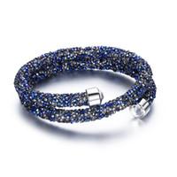 bracelets swarovski pour femme achat en gros de-New Luxury Design Tous cristal Bracelets magiques pour les femmes faites avec Cristal Swarovski Elements Bangles Mariages Party Bijoux cadeau