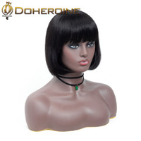 Wholesale medium length hair for women resale online - Indian Lace Frontal Human Hair Wigs Brazilian Hair Straight Human Hair For Black Women Natural Color Medium Brown