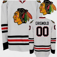 Wholesale christmas hockey jersey - Mens Christmas Vacation Movie Hockey Jersey #00 Clark Griswold Christmas Vacation Movie Throwback Hockey Jerseys Cheap White Free Shipping