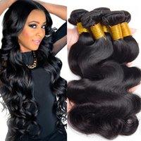 Wholesale Bodywave Hair Weave - Grade 8A Virgin Hair Malaysian Bodywave 3pcs lot ,Unprocessed Virgin Hair Bundle Deals Malaysian Virgin Hair weave 3,4,5pcs lot