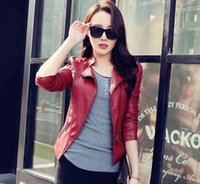 Wholesale Sexy Red Leather Jacket - 2017 Limited Women Jaqueta Blazer Todays Deals Womens-autumn-jackets Fashion Jacket Bomber Motorcycle Sexy Cheap Leather Coat