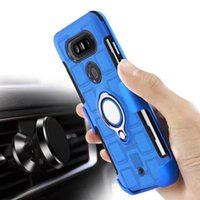 Wholesale holder 17 - Square Defender+Car Holder Metal Finger Ring Case For Galaxy S9 S8 Plus (J7 J5 A3 A5 A7)17 Armor Hard PC+TPU Hybrid Shockproof Beetle Covers