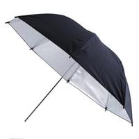 softbox video toptan satış-Taşınabilir 83 cm 33 inç Stüdyo Video Flaş Işık Taneli Şemsiye Yansıtıcı Reflektör Siyah Şerit Fotoğraf Fotoğrafçılığı Şemsiye