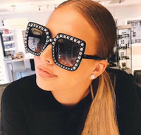 Wholesale Large Sunglasses Case - G0148 Luxury Brand Sunglasses 0148 Large Frame Elegant Special Designer with Diamond Frame Built-In Circular Lens Top Quality Come With Case