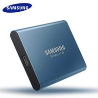 katı hal diski sdd toptan satış-Ssd t5 250G usb 3.0 tip-c sabit disk HD Taşınabilir usb notlaptop bilgisayar sürücüsü için 3.1 Harici Katı Hal Sürücüler