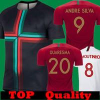 Wholesale andre white - Thailand 2018 Quaresma Andre sliva Home Red Soccer Jerseys 2019 away white J.MOUTINHO BERNARDO PEPE Trainning Black Shirts