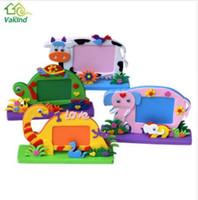 Wholesale foam frames resale online - EVA Foam Cartoon Photo Frame for Kids Child DIY D Stickers Photo Frame Handmade Block Toy Paste Frame Craft Gifts