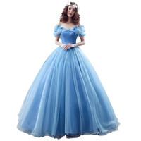 cinderella bows 도매-결혼식 이벤트 2018 새로운 매력적인 여성의 신데렐라 활 성인식 댄스 파티 드레스 명주 볼 가운 레이스 업 이브닝 파티 드레스