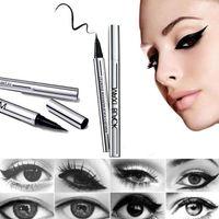 ingrosso ultimo nero eyeliner impermeabile-YANQINA Ultimate Black Liquid Eyeliner pen Lunga durata Waterproof Eye Liner Pencil Pen Nizza trucco Strumenti di cosmetici