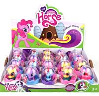 ingrosso regalo bella bambola-20pcs 1 lotto Bella bambola unicorno Bambola uovo Collezione bambini Figura Giocattolo per bambini Belle figure di cavallo Regali di Natale KKA6227