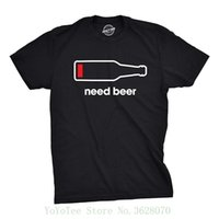 Wholesale funny t shirts for sale for sale - Group buy Tshirts Mens Need Beer Tshirt Funny Drinking Cell Phone Battery Tee For Guys T Shirt Hot Sale Clothes