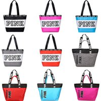 Wholesale personalized girls bag - Girls Love Pink handbags personalized unique large capacity Travel shopping bag vs love pink letter storage shoulder bags new 2018 fashion