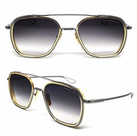 Wholesale brown system - new men brand designer sunglasses the system one series titanium sunglasses 18K gold plated UV400 lens top one vintage style square frame