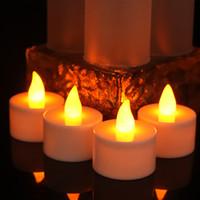 ingrosso candele decorative a batteria-Flicker giallo ha condotto le candele ricaricabili del tè accende le candele decorative a pile della lampada della candela per la festa Festa nuziale