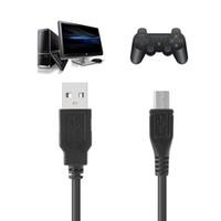 carregue o cabo xbox um venda por atacado-Preto 3M / 10Ft Micro USB Game Controller Adapter Play and Charge Cable para PS4 XBOX ONE EGS_826