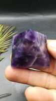 Wholesale Folk Art Houses - 56g natural crystal original stone dream purple pyramid is your home decoration beautification environment town house