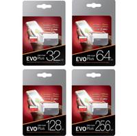 gb mikro bellek toptan satış-Yeni EVO Artı 256 GB 128 GB 64 GB 32 GB Mikro SD Kart SDXC SDHC Hafıza Kartı UHS-I U3 Kartı Adaptörü Perakende Paketi ile