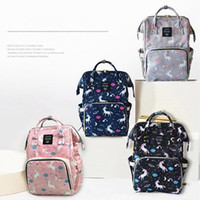 Wholesale nurses accessories - Baby Diaper Bag Mummy Maternity Nappy Bag Large Capacity Unicorn Backpack Nursing Bag Stroller Bags Stroller Accessories OOA4544